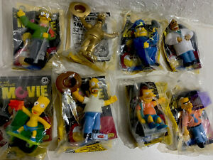 Set Of 8 The Simpsons Movie Burger King Kids Meal Toy 2007 Includes Golden Homer Ebay