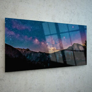 ANY-SIZE-Wall-Art-Glass-Print-Canvas-Picture-Night-Sky-Stars-Galaxy-p116191