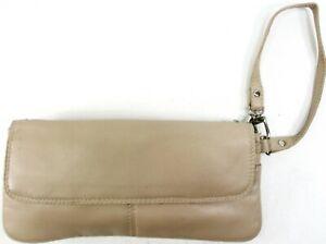 Golunski-Women-Leather-Handbag-Wallet-Tan-2-Zip-Compartments-6-Card-Slots