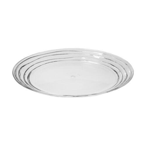 "Acrylic Swirl Design 11/"" Dinner Plate My Table Talk® Set of 4 Clear"