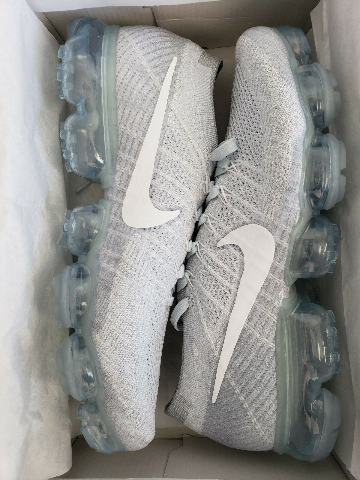 968978887e Nike Air Vapormax Flyknit Pure Platinum White Wolf Grey Mens 10 Size  nzvgkh1481-Athletic Shoes