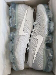 competitive price acc2c 435d1 Details about Nike Air Vapormax Flyknit Pure Platinum White Wolf Grey Mens  Size 10