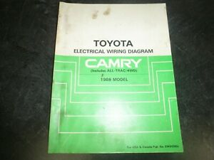 1988 Toyota Camry Electrical Wiring Diagrams Manual Dx Le Deluxe All Trac 4wd Ebay