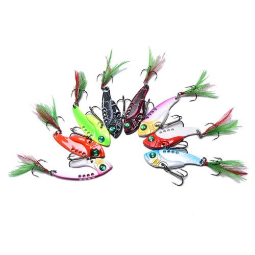 fishing lures set spoon Metal VIB sequins hard bait bass vibration crankbait ZJH