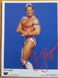 Lex Luger Original Promo Card Autographe Carte Din A 6 Wwf Wwe De Catch-afficher Le Titre D'origine Nbw9vmru-08010712-404238540