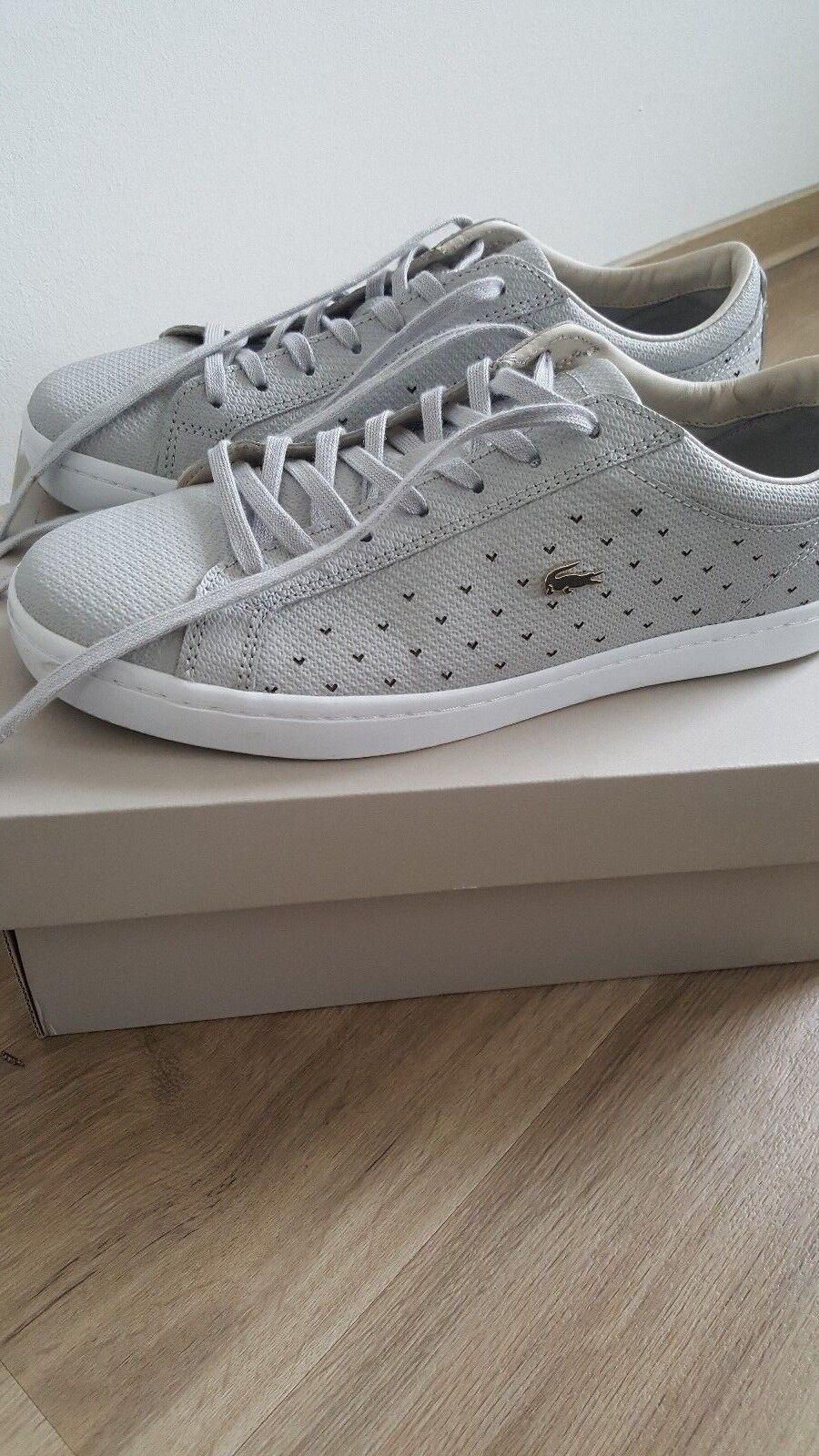 Lacoste flache Sneaker grau Größe 42