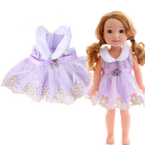 Handmade Cute Dress Clothes Skirt Accessories For 18 inch American Doll Girl New