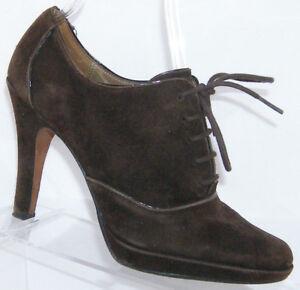 9907243ea3f Circa Joan   David Sage brown suede lace up oxford platform bootie ...