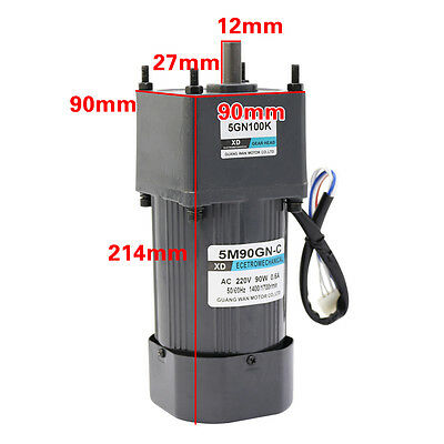 AC220V 90W 5M90GN-C Single Phase Gear Motor Low Speed Motor with Speed Control
