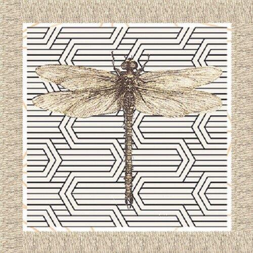 Serviettentechnik Dragonfly Libelle ppd 20 Servietten 33x33
