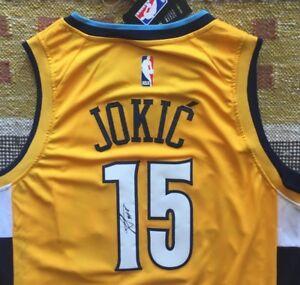 new concept feeec 12d5e Details about Nikola Jokic Signed Autograph Denver Nuggets Jersey NBA The  Joker All Star