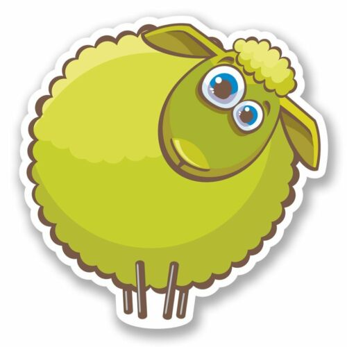2 x Crazy Funny Sheep Vinyl Sticker Laptop Travel Luggage Car #5660