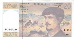 FRANCE 20 FRANCS 1993 - Free to Combine Low Shipping