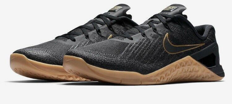 Men's Nike Metcon 3X Black And gold Crossfit shoes, Sz 11 New In Box