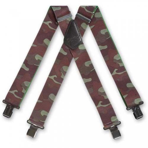 Brimarc Woodland Camouflage Braces 476302 Heavy duty elasticated braces
