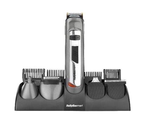 BaByliss Mens Rechargeable Hair Beard Trimmer & Clipper Titanium Kit Set 7235U