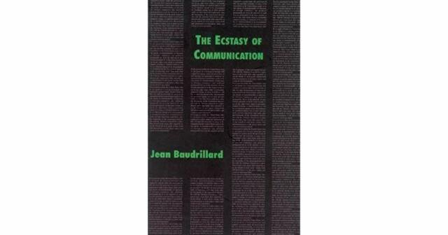 The Ecstasy of Communication by Jean Baudrillard 1988 edition