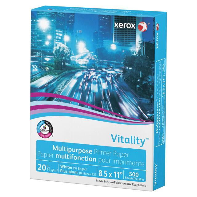 Xerox Vitality Premium Multipurpose Printer Paper 24lb 96 White 500 Sheets