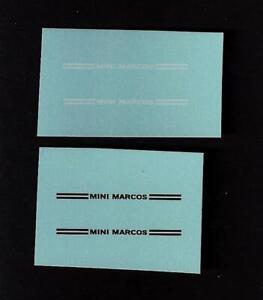 Corgi 341 Mini Marcos Gt850 Transferts/décalcomanies-ls Fr-fr Afficher Le Titre D'origine