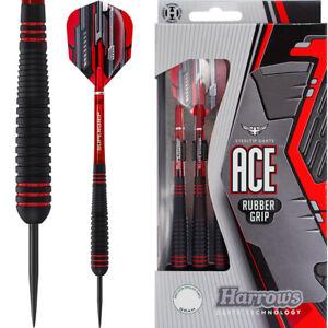 Harrows Ace Darts - Steel Tip - Vulcanised Rubber Grip
