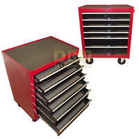 26 Metal Tool Chest Bbs Roller Cabinet Box Toolbox Cart Storage 6 Drawers Red