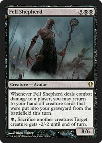 Fell Shepherd NM//PL Commander MTG Magic The Gathering Black English Card