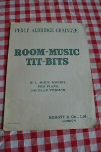 Antique Percy Aldridge Grainger Music Tit-Bits No 1 Mock Morris for piano 1912
