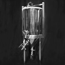 Stainless Steel Conical Fermenter for Brewing/Making Wine or Beer! - 8 Gallon
