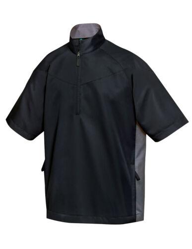 Tri-Mountain Men/'s  Water Resistant Zip Short Sleeve Windshirt