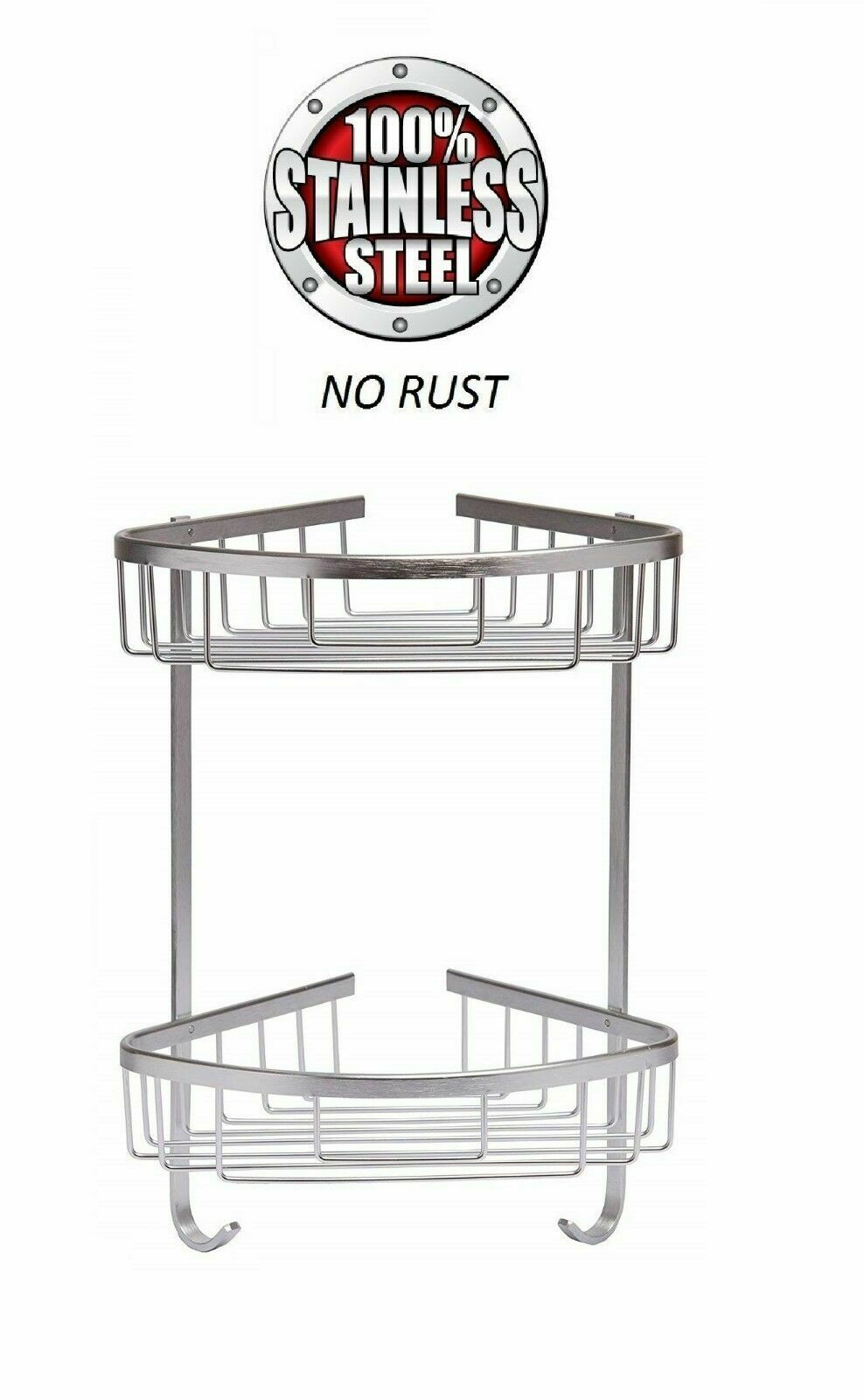2 TIER STAINLESS STEEL CADDY