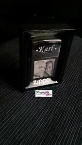 PHOTO & TEXT ENGRAVED GENUINE ZIPPO LIGHTER CHROME POLISHED - personalised <3