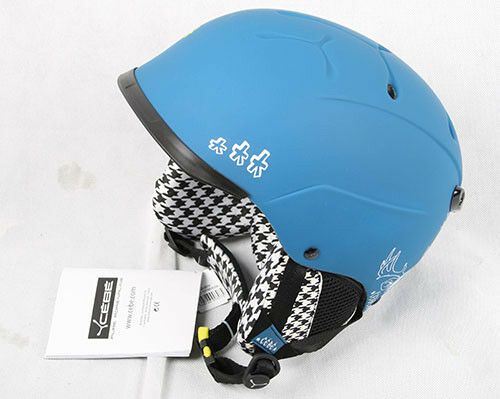 Cebe Skihelm Contest Visor Arty Soft Deer blau 52cm Snowboardhelm  227