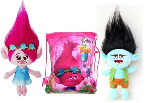 "Trolls Poppy Branch Dreamworks Movie 9/"" Plush Dolls Comes in Bag Fast Shipping"