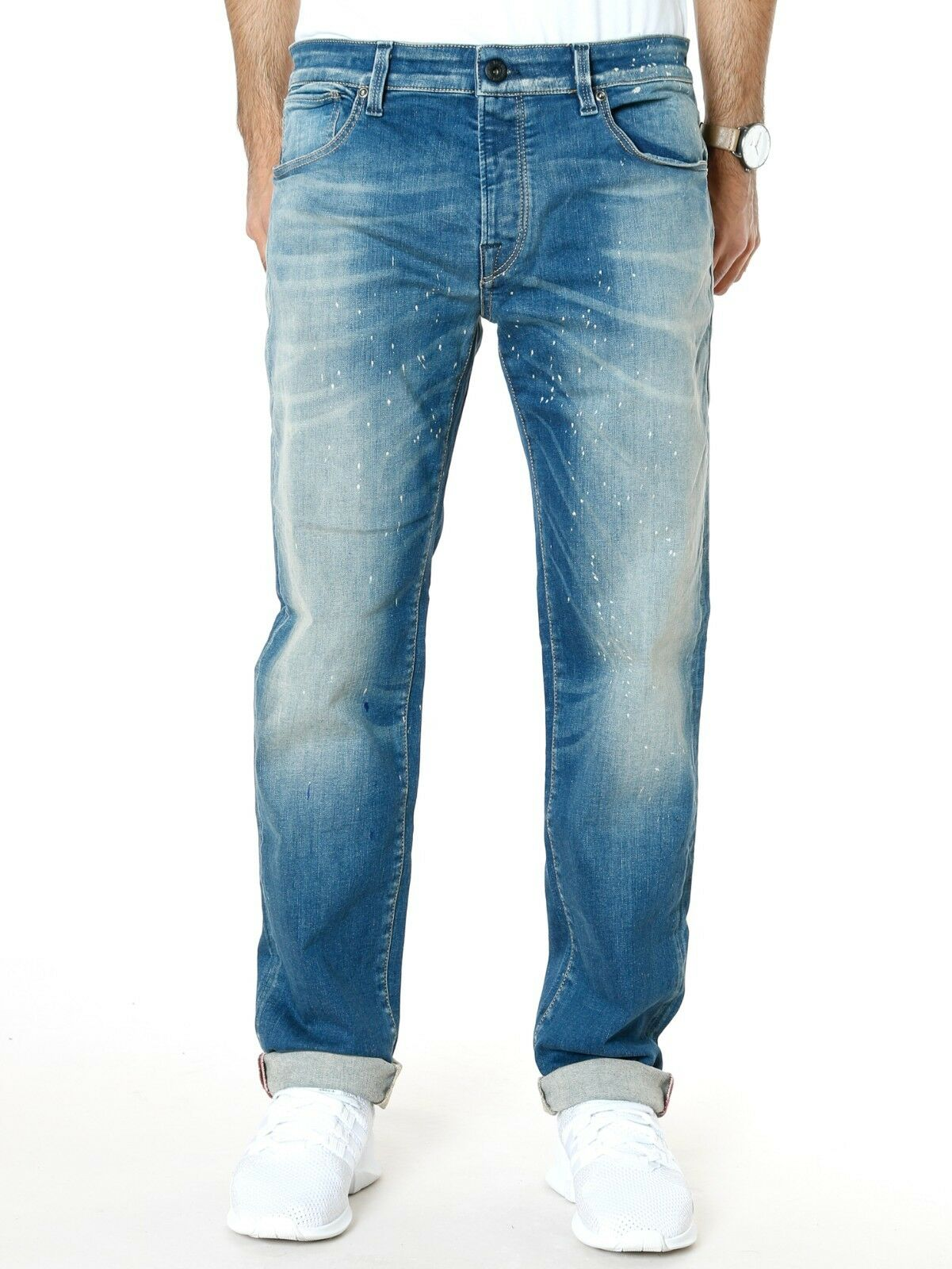 Jack & Jones Jones Jones Uomo Jeans o Tim Reagan Slim Fit Elasticizzato Painted W33 0f5e90