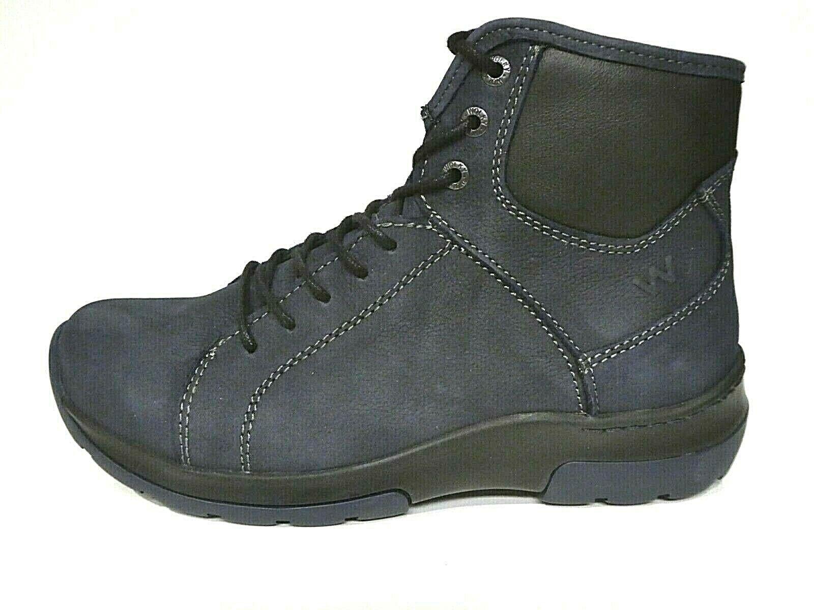 Wolky Schuhe Stiefel Stiefeletten Stiefel Ambient Antique blau Blau Leder Einlagen