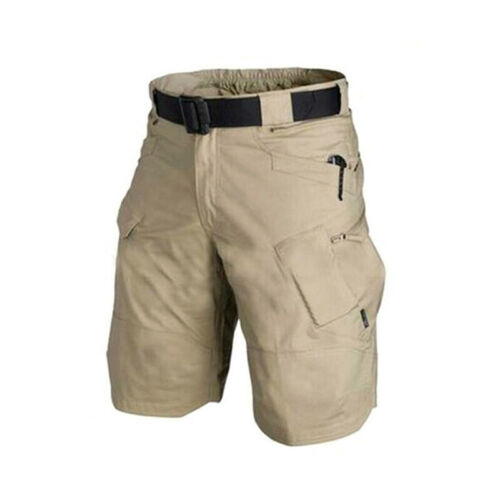 QU S-2XL Mens Urban Military Sport Cargo Shorts Cotton Outdoor Camo Short Pants