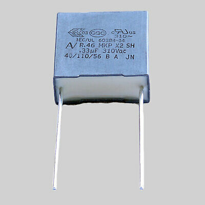 10 condensateurs MKP X2 220-230V 0,33µF 0.33µF 330nF 334K 334 K 310Vac 15mm uF