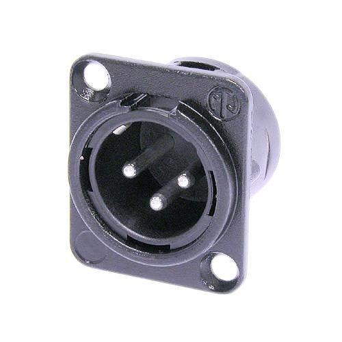New Genuine Neutrik NC3MD-L-BAG-1 Male XLR Panel Mount Silver Contacts