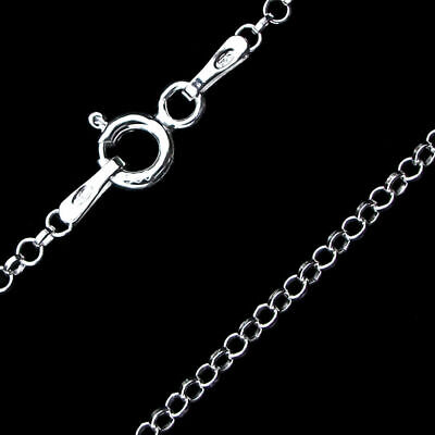 Sterling Silver 1.5mm Solid Rolo 16 Chain