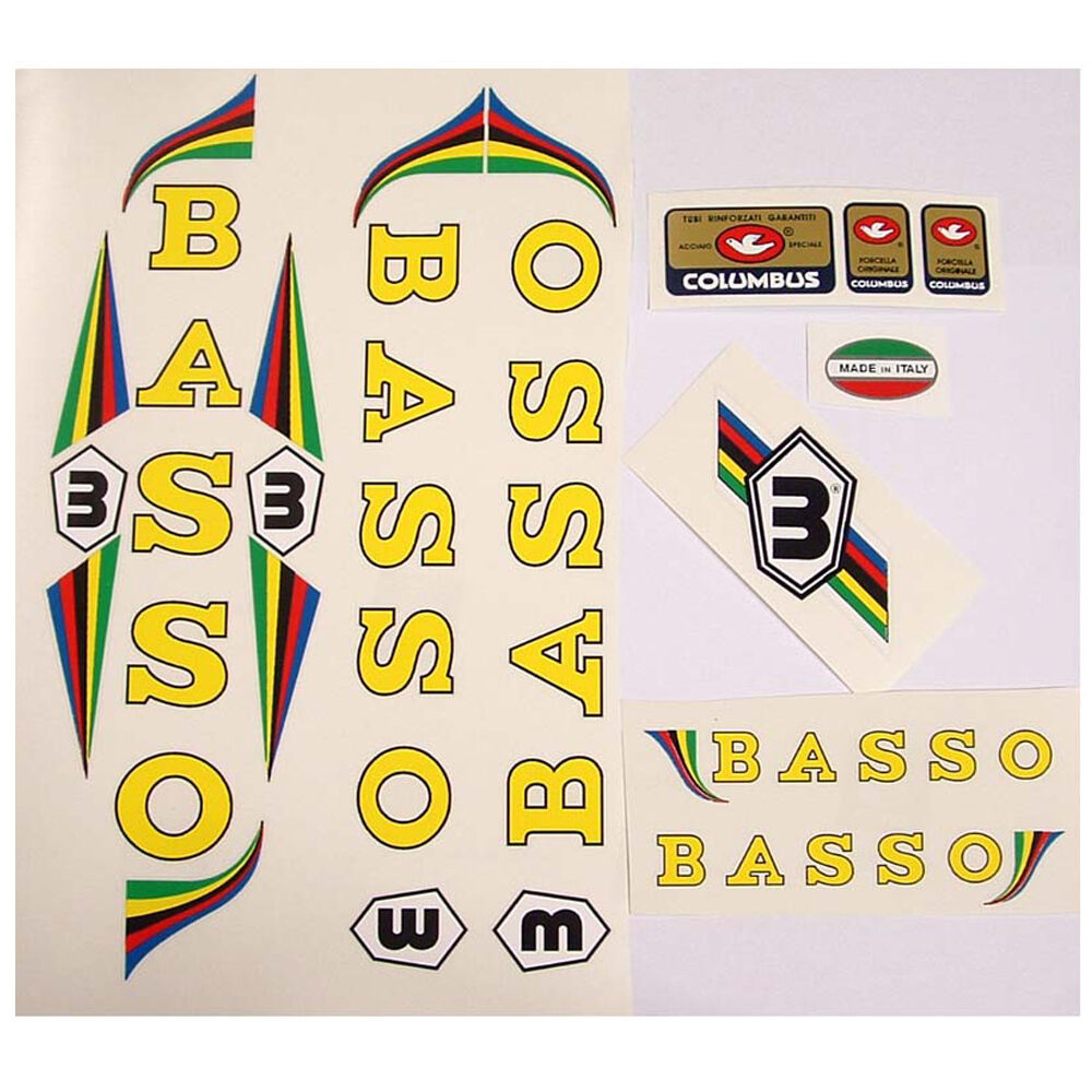 Basso set of decals vintage for campagnolo choices