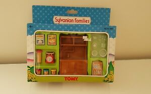 ** Rare Tomy Sylvanian Families Ferme Country Kitchen Set Complete Boxed Box-afficher Le Titre D'origine