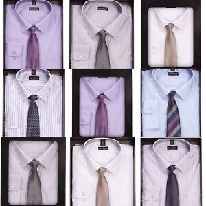 vendita uk shop varietà di disegni e colori Dettagli su Pierre Roche Uomo Polsino Singolo Camicia Formale e Cravatta  Scatola Set Smart