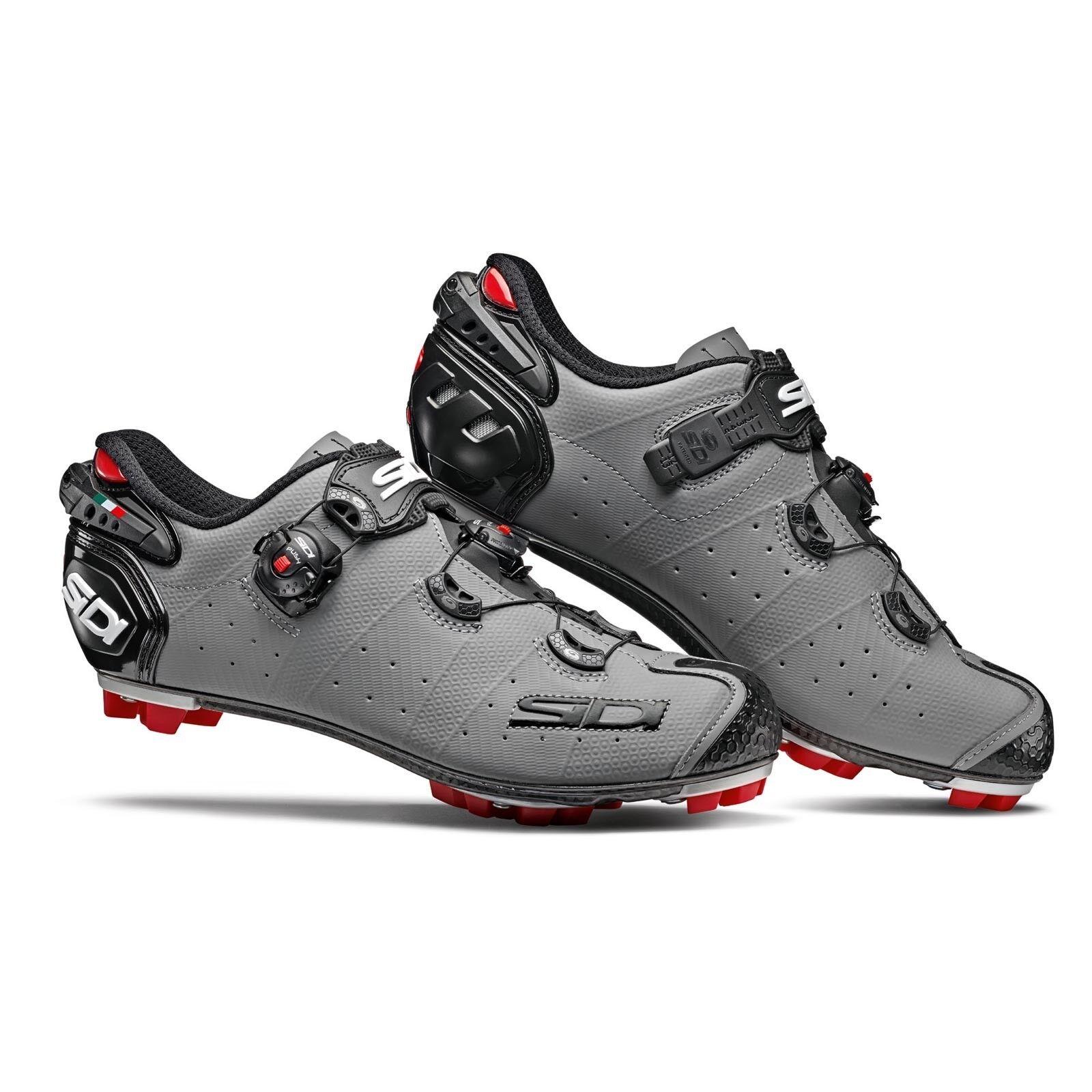 Schuhe SIDI MTB DRAKO 2 SRS MATT taglia 43 colore GRIGIO OPACO NERO