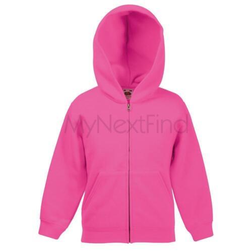 Fruit of the Loom Classic 80//20 Boys Girls Hoodie Hooded Sweatshirt Jacket