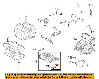 Genuine Hyundai 89260-0W840-MKU Seat Cushion Covering Assembly