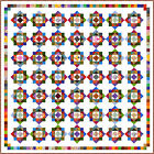 """HODGE PODGE - White - 97"""" - Quilt-Addicts Pre-cut Patchwork Quilt Kit King size"""