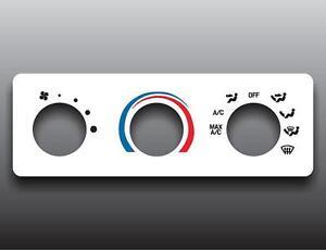 2001-2011-Ford-Ranger-White-Heater-Control-Overlay-HVAC-A-C