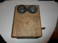Antique Western Electric Oak Hand Cranked Ringer Box 300n w/5bar Magneto 48-A
