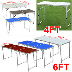 4FT-6FT-ALUMINIUM-PROTABLE-TRESTLE-FOLDING-TABLE-PARTY-CAMP-WITH-ADJUSTABLE-LEGS