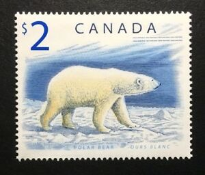 Canada-1690i-TRC-Paper-MNH-Wildlife-Definitives-Polar-Bear-Stamp-2003